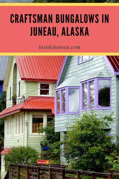Craftsman Bungalows and Late Victorian Buildings - Inside Juneau Hotel Alaska, Foggy Mountains, Juneau Alaska, Long House, Victorian Buildings, Banks Building, Metal Siding, Art Deco Buildings, Transom Windows