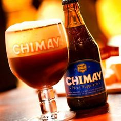 Chimay Bleue, one of my absolute favorit beers in the world