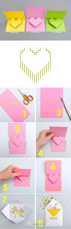 浪漫的约定。DIY立体爱心卡片教程http://www.52souluo.com/32063.html - 堆糖 发现生活_收集美好_分享图片