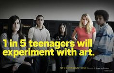 Created by advertising agency, Team Detroit, College for Creative Studies' ads take a leaf from these ubiquitous 80s and 90s anti‐drug television campaigns. Includes the sensible reminder: 'Talk to your kids about art school'.