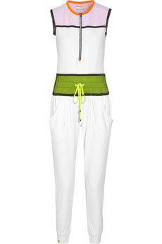 Monreal London Mesh-paneled stretch-jersey jumpsuit | NET-A-PORTER