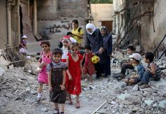Heartwarming pictures show children celebrating Eid in war-torn Syria - The Express Tribune