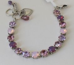 f357166d68 Mariana Elizabeth Bracelet Tennis Amethyst Rose Water Opal Swarovski  Crystals