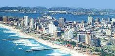 """See 317 photos and 21 tips from 1477 visitors to Durban Beach Front. """"Getting up early to watch the sunrise is well worth it. Durban South Africa, Kwazulu Natal, Most Beautiful Beaches, East London, Live, New York Skyline, Sunrise, Ocean"""