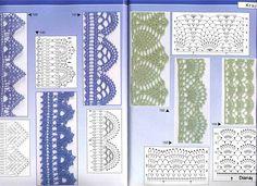 схемы вязания крючком - тесьма