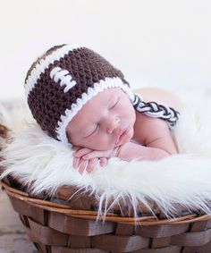 Another great find on #zulily! Bits N Baubles BeBe Brown Knit Football Earflap Beanie by Bits N Baubles BeBe #zulilyfinds