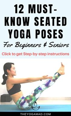 Jun 2019 - Seated yoga poses are great for toning the core as well as promote better posture. In this post, we introduce 12 beginner- and senior-friendly seated yoga poses to practise daily Yoga Meditation, Sanftes Yoga, Cardio Yoga, Pilates, Sitting Yoga Poses, Seated Yoga Poses, Yoga Poses For Beginners, Workout For Beginners, Yoga Inspiration