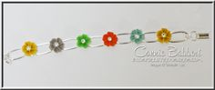 In Color Blossom Accents Bracelet, Stampin' Up!, #stampinup, jewelry, created by Connie Babbert, www.inkspiredtreasures.com