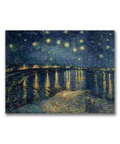 Look at this #zulilyfind! Van Gogh Starry Night II Replica Gallery-Wrapped Wall Art by Trademark Global #zulilyfinds