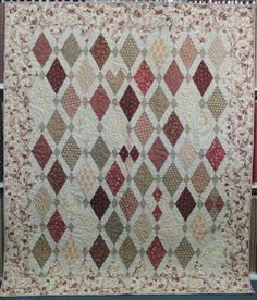 pomegranate and chintz Plus Quilt, Diamond Quilt, Scrappy Quilts, Fabric Manipulation, Show And Tell, Quilting Designs, Applique, Diy Projects, Pure Products