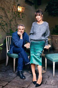 Sheherazade Goldsmith & Alfonso Cuarón Her look!