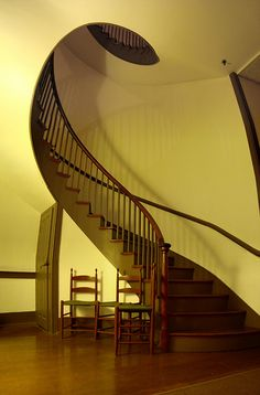 shaker stairs, Trustee's Office, Pleasant Hill Shaker Village, KY