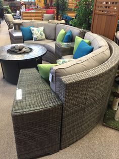 Who Wouldnu0027t Want This Gorgeous Curved Patio Sectional In Grey? Available  At Patio