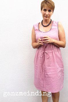 Mein Soutport Dress von Treubias aus rosa Chambray. Genäht von ganzmeinding