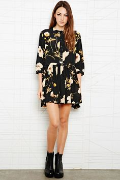 House of Hackney - Robe bouffante imprimé coquelicots chez Urban Outfitters