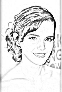 Emma Watson drawing. Upload your photo and get a drawing for free!