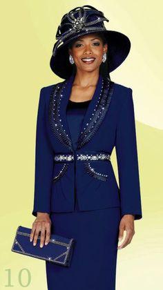 women's church suits and hats | Plus Size Womens Church Suits BenMarc 3pc Suit 4404 image