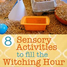 8 Sensory Activities to Fill the Witching Hour - The Artful Parent