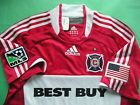 For Sale - RARE~AUTHENTIC~Adidas CHICAGO FIRE OFFICIAL Soccer Jersey Football Shirt~Men Med  - See More At  http://sprtz.us/ChicagoFire