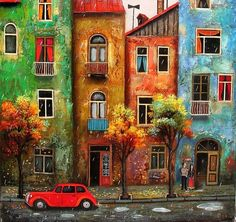 David Martiashvili art | ... summer - house, david martiashvili, car, building, art, painting