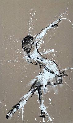 """Saatchi Art Artist Mario Henrique; Painting, """"Ballerina No. 4, Series VIII"""" #art"""