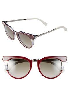 56392632665 Fendi 52mm Retro Sunglasses available at  Nordstrom Heart Sunglasses