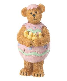 Loving this Easton Eggburt Bear Figurine on #zulily! #zulilyfinds