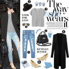 """Look For Less: Kendall Jenner"" by putricp on Polyvore"
