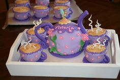 Tinkerbell Tea Party Birthday Cake...maybe for a little girls party