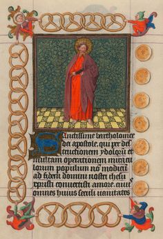 St. Bartholomew   Hours of Catherine of Cleves   Illuminated Manuscript   ca. 1440   The Morgan Library & Museum