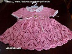 pembe elbise baby kleider häkeln baby meine arbeit facebook kleider ...