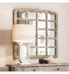 Rustic timber panelled mirror with a cream aged paint finish http://www.mirrormania.co.uk/mirrors/classic/baltimore-timber-framed-window-mirror.html?utm_content=bufferfa373&utm_medium=social&utm_source=pinterest.com&utm_campaign=buffer | #GBHour #UKBizLunch