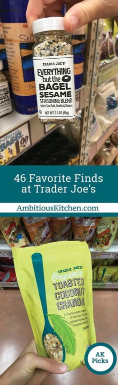 Give me an empty cart at TJ's and I can go wild… SO we rounded up 46 of our favorite finds at Trader Joe's for you to check out. Ready?