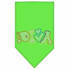 Technicolor Diva Rhinestone Pet Bandana Lime Green
