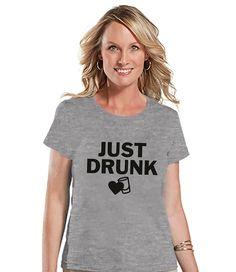 7 ate 9 Apparel Women's Just Drunk Bridesmaid T-shirt
