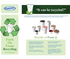 Did you know foam can be recycled? Learn about other benefits of foam from Dart Container.
