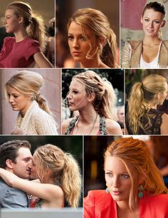 Blake Lively hairstyle in gossip girl