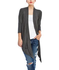 37c4b073bc Another great find on  zulily! Charcoal Gray Open Cardigan  zulilyfinds  Charcoal Gray