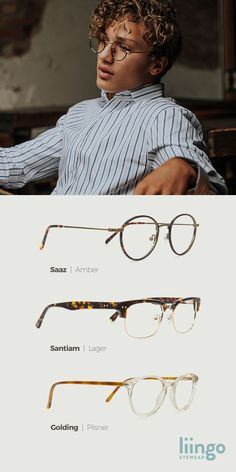 Style inspiration from our men's eyewear collection from Liingo. Plus....free lenses.