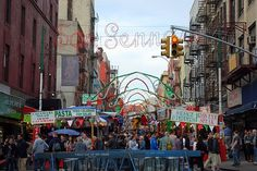 The Feast of San Gennaro, Little Italy. Manhattan, Little italy ... a very long time ago, I happened to be in NYC and went to the festival - fun times!