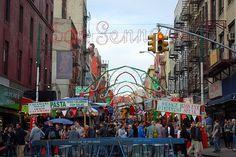 The Feast of San Gennaro, Little Italy. Manhattan, Little italy