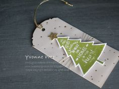 Peaceful Pines, Perfect Pines framelits, Tags, Stampin' Up!, Yvonne Pree, 2015 Holiday Catalogue, Christmas 2015