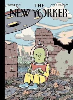 "The New Yorker - Monday, June 8, 2009 - Issue # 4313 - Vol. 85 - N° 17 - « Summer Fiction Issue » - Cover ""Future Generations"" by Dan Clowes"