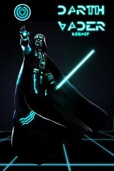 """Darth Vader """"TRONed"""""""