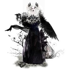 And all of flames shall burn with the ravens dark Ravens, Collage Art, Burns, Dark, Artwork, Polyvore, Beautiful, Design, Women