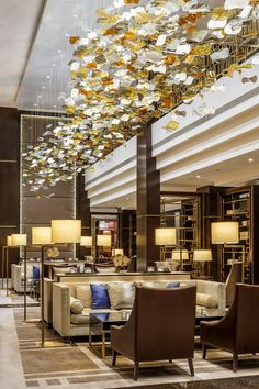 Come get amazed by the best hotel reception and lobby design inspiration. See more pieces at  luxxu.net