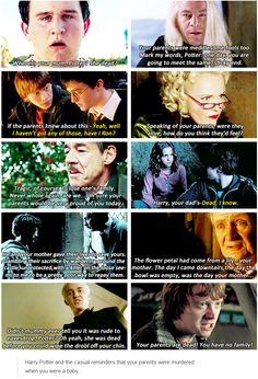 Harry Potter and the casual reminders that his parents were murdered when he was a baby
