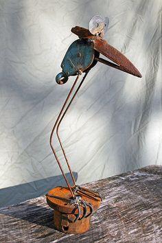blue bird Rusty Relics Metal Art