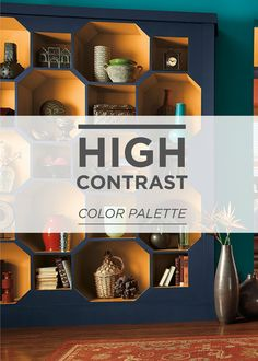 Make a bold statement in your entryway with a colorful BEHR paint palette. Try fresh blue, purple, orange, and yellow colors to greet your guests and bring an eclectic feel to your home. | Featured paints: Bella Vista, Very Navy, Deep Fire, and Sweet Mustard.