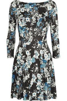 ERDEM Vivi floral-print jersey mini dress. #erdem #cloth #dress